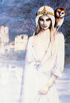dame blanche de l'abbaye de mortemer