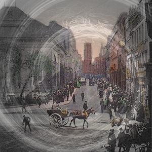 Glissements temporels dans une rue de Liverpool