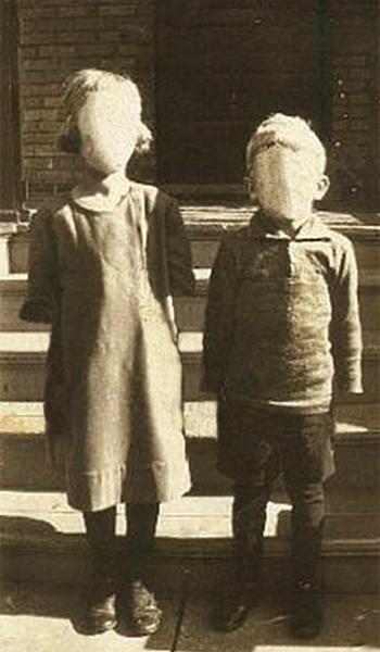 enfants sans visage
